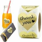 500Pcs Heart Shaped Thank you Stickers Gold Foil DIY Envelope Seal Wedding Gift