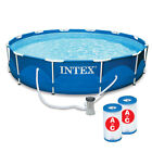 Intex 12 x 30 Metal Frame Pool with Filter  Type A or C Filter Cartridges
