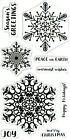 Christmas Snowflakes  Sayings Fiskars Clear Acrylic Stamp Set NEW
