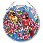AMIA Stained Glass Suncatcher Cardinal Quartet 65 Circle 5582