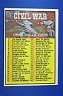1962 Topps Civil War News Trading Cards 12