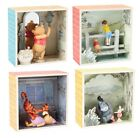 Set of 4 Winnie the Pooh Shadow Boxes and Figurines Tigger Piglet Eeyore