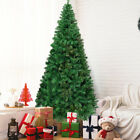 8Ft Artificial PVC Christmas Tree W Stand Holiday Season Indoor Outdoor Green