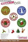 CottageCutz Christmas Tag Topper Set Cutting Die CC 490 2018 New Release