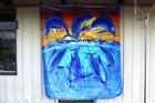 DOLPHIN DOLPHINS OCEAN MICHAEL SEARLE QUEEN SIZE BLANKET
