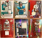 Lot of over 100 Football Cards GUARANTEED Auto or Jersey Assorted Rookies