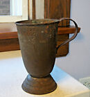 Old Ice Cream Tall Tin Cup with swivel turn lever RARE