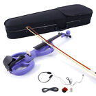 4 4 Purple Electric Silent Violin Set w Case+Bow+Cable+Headphone High Quality