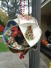 Christmas Ornament Ball PAPER Made from Vintage X mas Cards 8 X 8 61