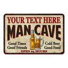 YOUR NAMES Man Cave Personalized Metal Sign Wall Decor Gift 108120011001
