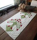 Green Pine Tree Table QUILT RUNNER 37x18