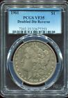 1901 $1 Morgan Silver Dollar - Doubled Die Reverse -PCGS VF35
