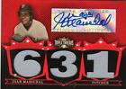 2007 TRIPLE THREADS JUAN MARICHAL AUTO JERSEY 10 18