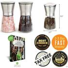 Salt and Pepper Grinder Shakers HourGlass Stainless Steel Spices Set of 2 Cook