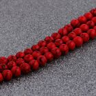 Natural Stone Red Turquoise Gemstone Round Spacer Loose Beads 6mm 8mm 10mm 16
