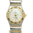 OMEGA CONSTELLATION 18K GOLD & STEEL MOP DIAL FULL BAR 100% AUTHENTIC NO RESERVE