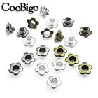 100X Metal Eyelet 5mm Hole Flower Leathercraft DIY Scrapbook Clothes Accessories