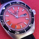 VINT ULYSSE NARDIN DIVER AUTOMATIC ORANGE  DIAL Ca 57 swiss made