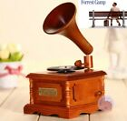 WOODEN PHONOGRAPH MUSIC BOX   Forrest Gump Theme