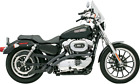 Bassani Black Radial Sweeper Exhaust System for 07 13 Harley Sportster 883 1200