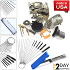 Moto ATV Carb Motorcycle Carburetor Cleaner Jet Cleaning Wires Set Tools Brushes