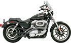 Bassani Black  Chrome Radial Sweeper Exhaust 07 13 Harley Sportster 883 1200