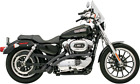 Bassani Black Scalloped Radial Sweepers Exhaust for 86 03 Harley Sportster XLH