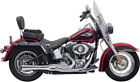 Bassani Chrome Road Rage Mega Power Short 2 1 Exhaust for 86 17 Harley Softail