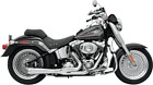 Bassani Chrome Road Rage 2 1 Short Exhaust for 86 17 Harley Softail FLSTN FLSTF