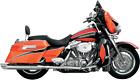 Bassani Chrome 4 Slash Down Exhaust Mufflers for 95 16 Harley Touring FLHX FLHT