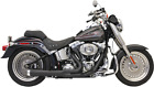 Bassani Black 2 1 Road Rage Short Exhaust for 86 17 Harley Softail FXS FLSTF FXS