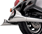 Vance  Hines Chrome Big Shot Duals Fishtail Exhaust End Caps Harley Davidson