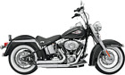 Bassani 2 2 Chrome FireSweep Exhaust for 86 17 Harley Softail FLSTF FXST FLST