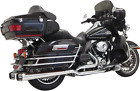 Bassani Chrome True Dual Down Under Exhaust for 09 16 Harley Touring FLHX FLHR