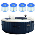 Intex Pure Spa Inflatable 4 Person Hot Tub w Type S1 Filter Cartridges 4 Pack
