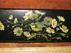 Antique/Vintage Asian Black Lacquer Box Blue Bird /Daisy Floral-FAB Holiday Gift