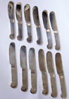 12 Art Deco Christofle France Small Butter Spreader Pate Knife Silverplate