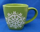 Starbucks Coffee Tea Mug Green White Optic Pattern Drip Makers Cups Thick Heavy