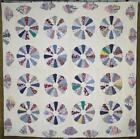 Lots of Blue! Country Farmhouse VINTAGE Dresden Plate QUILT Never Used