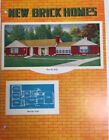 1950s MID-CENTURY MODERN NEW BRICK HOME MAGAZINE w BUILDING PLANS