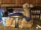 RARE Vtg Large TPI Nativity Camel Christmas Blow Mold Light Up Yard Decor CLEAN