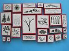 SCENERY Foam Mounted Rubber Stamps LANDSCAPE Nature Trees Leaves Rocks Grass