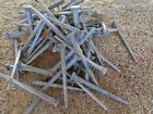 100 New/Old Stock SQUARE NAILS found in original NAIL KEG~farm~carpenter~repair