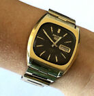 Vintage Seiko 5 Automatic 7019 5000 Mens Watch Runs Day Date 21j Brown Dial