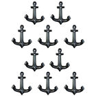 5 Pair Vintage Anchor Style Heavy durable Cast Iron Wall Coat Hooks Hat Hook