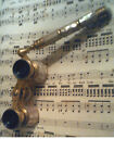 Antique Victorian IRIS PARIS Mother of Pearl and Brass Opera Glasses With Handle