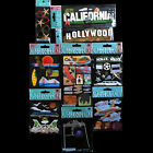 Jolees Stickers HOLLYWOOD SIGN CALIFORNIA VACATION JET TRIP CAMERA Lot 9 Packs