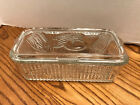 Federal Vintage Refrigerator Dish - clear glass with ribs and Vegetable Lid