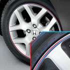Wheel Bands Sky Blue in Red Pinstripe Rim Edge Trim for Honda Civic (Full Kit)