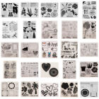 Acrylic Rubber Clear Stamps Sheet for DIY Photo Album Cards Paper Craft Decor